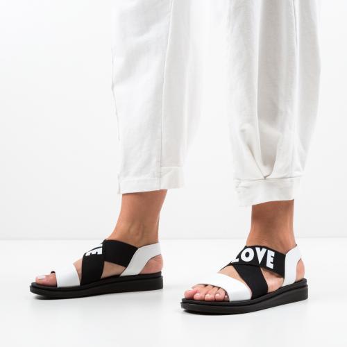 Sandale Lovers Albe - Sandale dama ieftine - Sandale fara toc