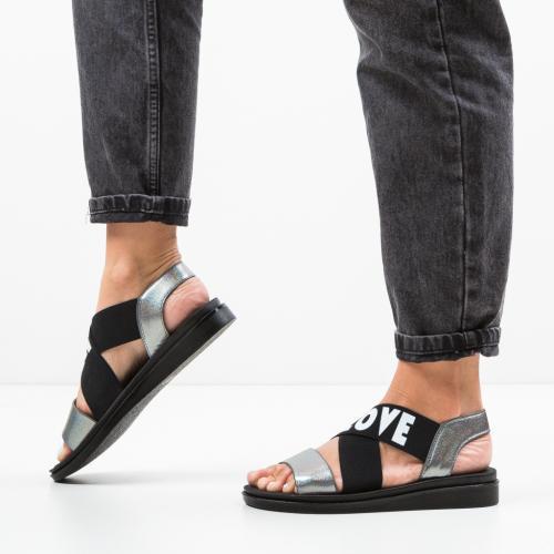 Sandale Lovers Gri - Sandale dama ieftine - Sandale fara toc