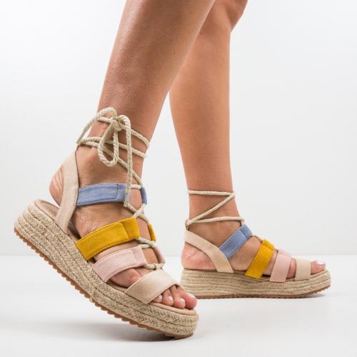 Sandale Marvil Bej 2 - Sandale dama ieftine - Sandale fara toc