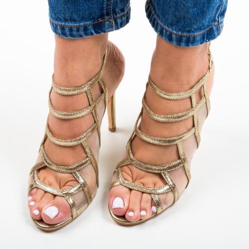 Sandale Nivelmo Aurii 2 - Sandale dama ieftine - Sandale cu toc