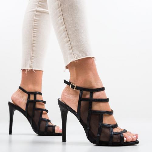 Sandale Nivelmo Negre - Sandale dama ieftine - Sandale cu toc