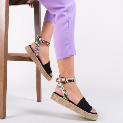Sandale Papeer Negre - Sandale dama ieftine - Sandale cu talpa joasa