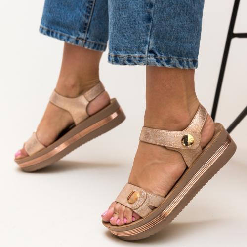 Sandale Penty Aurii - Sandale dama ieftine - Sandale cu platforma