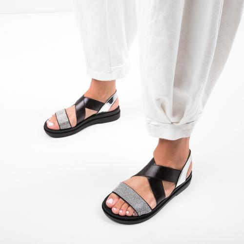 Sandale Pinos Argintii - Sandale dama ieftine - Sandale fara toc