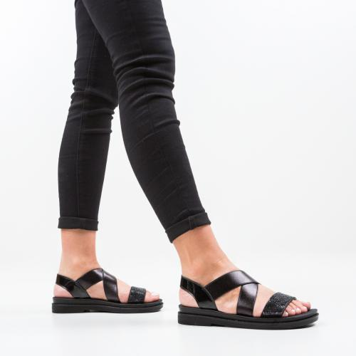 Sandale Pinos Negre - Sandale dama ieftine - Sandale fara toc
