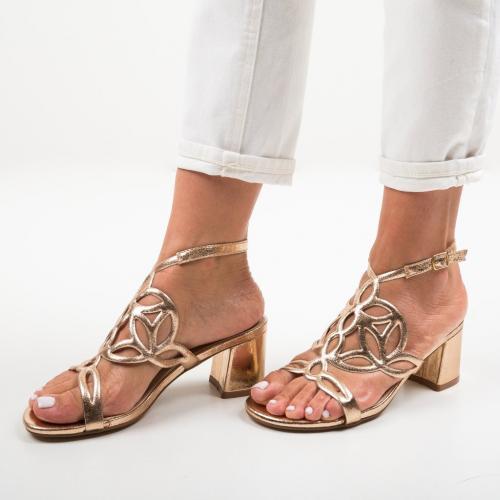 Sandale Praji Aurii - Sandale dama ieftine - Sandale cu toc