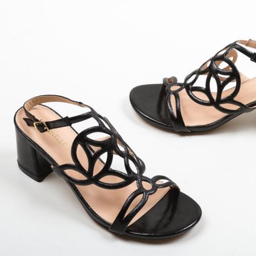 Sandale Praji Negre - Sandale dama ieftine - Sandale cu toc
