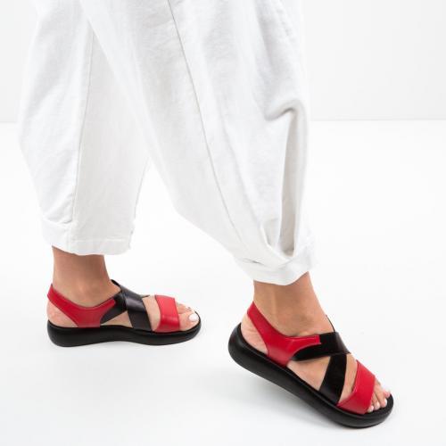Sandale Primosi Rosii - Sandale dama ieftine - Sandale fara toc