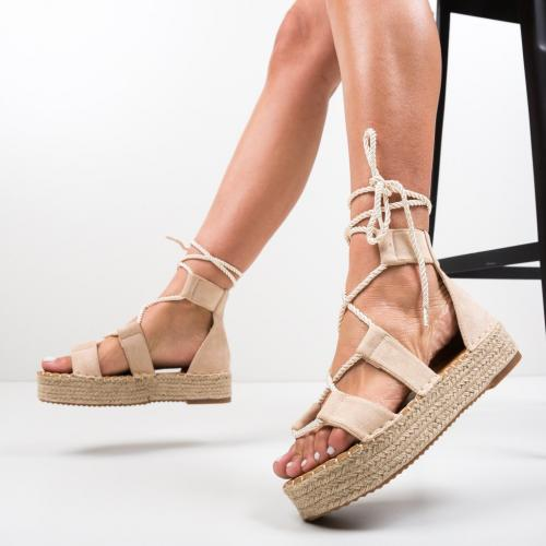 Sandale Quiero Bej 2 - Sandale dama ieftine - Sandale fara toc