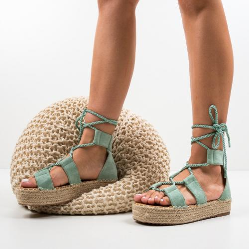 Sandale Quiero Verzi - Sandale dama ieftine - Sandale fara toc