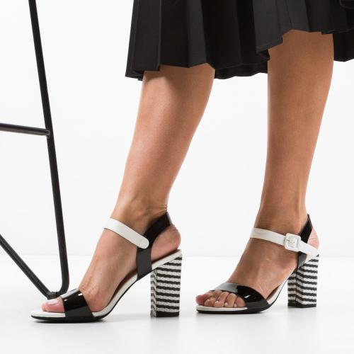 Sandale Ria Negre 2 - Sandale dama ieftine - Sandale cu toc