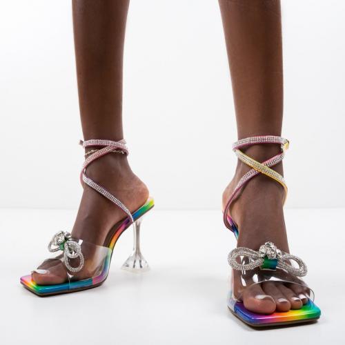 Sandale Robbins Multi - Sandale dama ieftine - Sandale cu toc