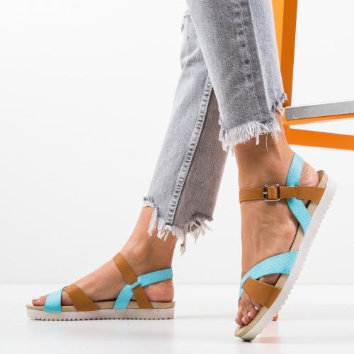 Sandale Rosalie Albastre - Sandale dama ieftine - Sandale fara toc