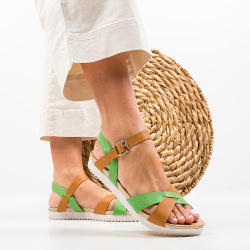 Sandale Rosalie Verzi - Sandale dama ieftine - Sandale fara toc