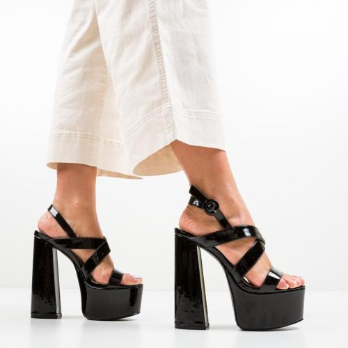 Sandale Salazar Negre - Sandale dama ieftine - Sandale cu toc