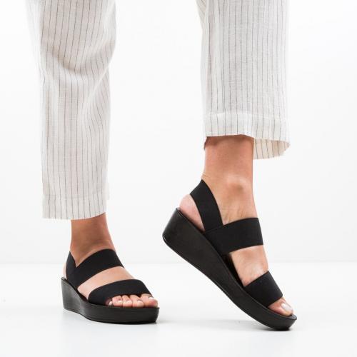 Sandale Sclipio Negri - Sandale dama ieftine - Sandale fara toc