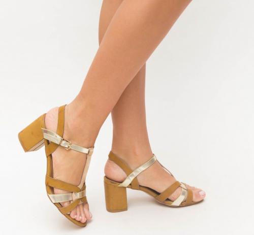 Sandale Sela Maro - Sandale dama ieftine - Sandale cu toc gros