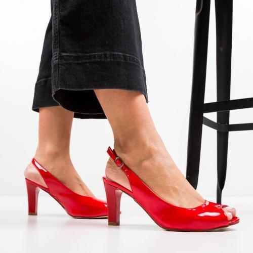 Sandale Tuita Rosii - Sandale dama ieftine - Sandale cu toc
