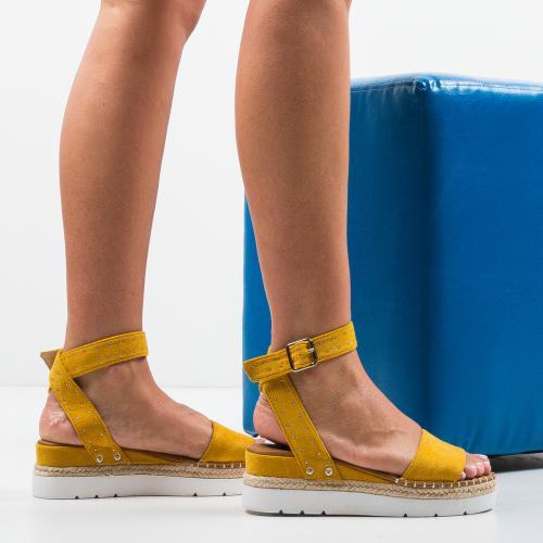 Sandale Xefop Galbene - Sandale dama ieftine - Sandale fara toc