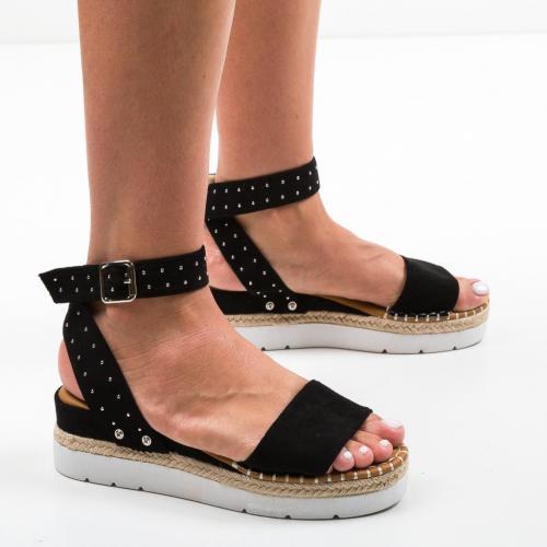 Sandale Xefop Negre - Sandale dama ieftine - Sandale fara toc