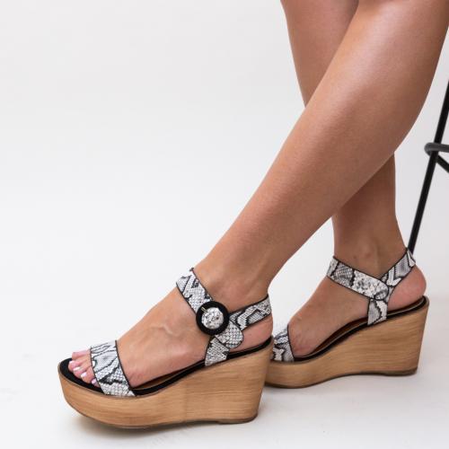 Sandale Zaki Albi 2 - Sandale dama ieftine - Sandale cu platforma