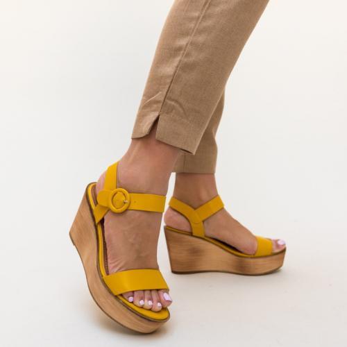 Sandale Zaki Galbene - Sandale dama ieftine - Sandale cu platforma
