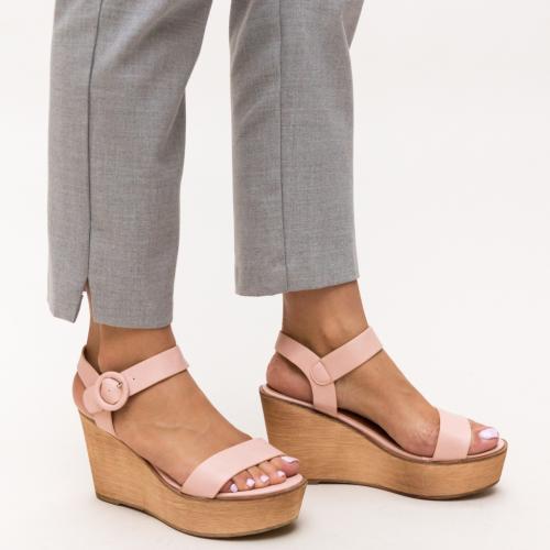Sandale Zaki Roz - Sandale dama ieftine - Sandale cu platforma