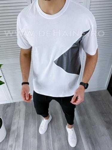 Tricou barbati alb regular fit B3725 49-21 - Tricouri barbati -