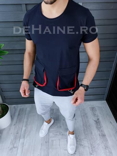 Tricou barbati slim fit asimetric ZR A9158 47-42 - Tricouri barbati -