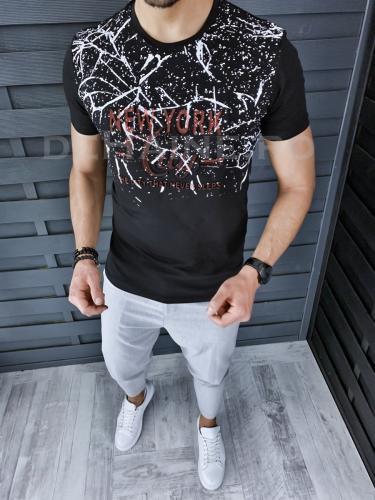Tricou barbati slim fit ZR A5818 47-33 - Tricouri barbati -